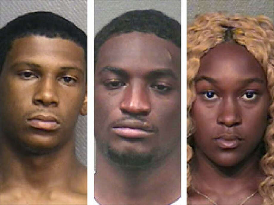 From left: Cerdarian O'Neal-Thompson, 18, Jethaniel McGee, 24, and Sade Houghton, 17, are accused in the attacks. Photo: HPD