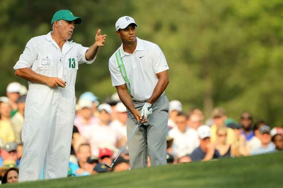 Tiger Woods did not say who would replace Steve Williams, his caddie of 12 years. Photo: Jamie Squire, Getty