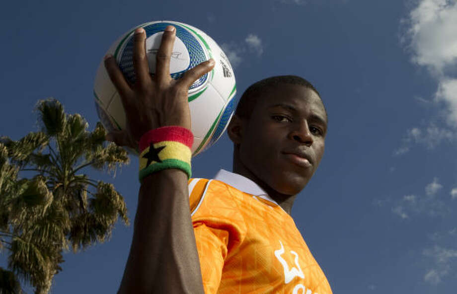 The Dynamo did not expect Kofi Sarkodie to be available with the No. 7 pick, their first in the 2011 draft. Photo: Billy Smith II, Chronicle