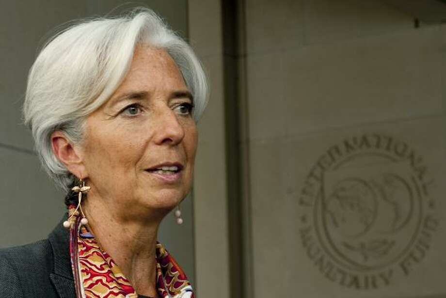 French Finance Minister Christine Lagarde is stepping in to lead the International Monetary Fund as the debt crisis in Europe flares again. She was chosen after the United States backed her instead of Mexican central bank governor Agustin Carstens. Photo: Jim Watson:, AFP/Getty Images