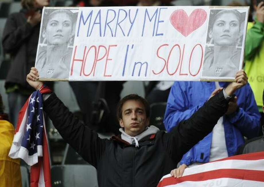 The U.S. team is rapidly gaining fans, especially keeper Hope Solo. Photo: Martin Meissner, Associated Press