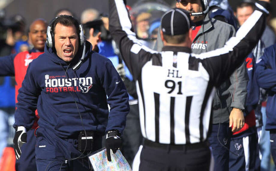 Texans head coach Gary Kubiak must implement a new defense with less preparation time than in a typical season. Photo: Brett Coomer, Chronicle