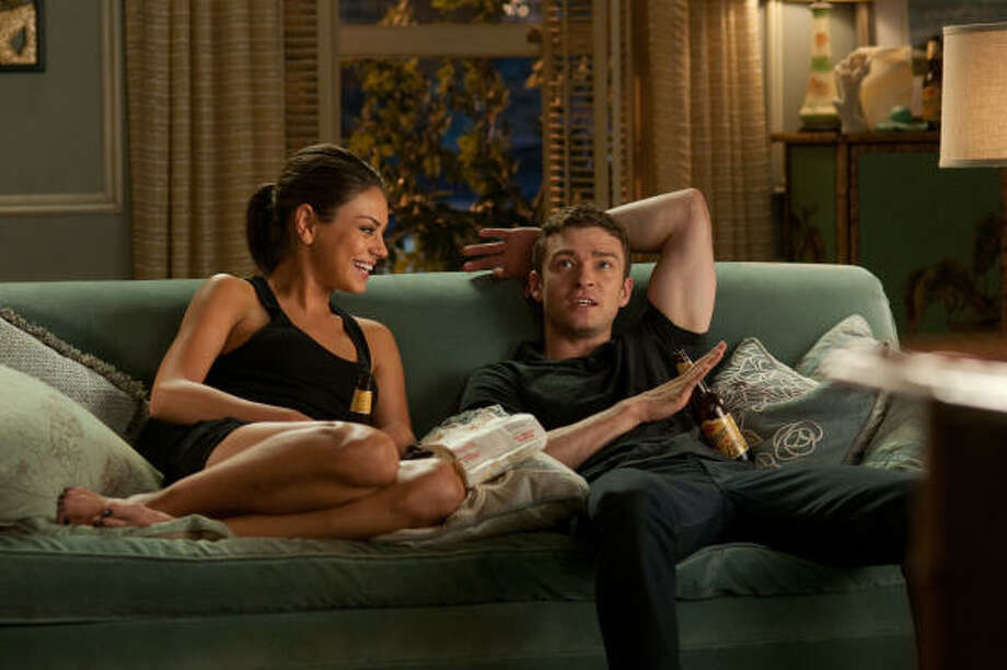 Likable pair Mila Kunis and Justin Timberlake star as Jamie and Dylan in the new film Friends With Benefits. Photo: Glen Wilson