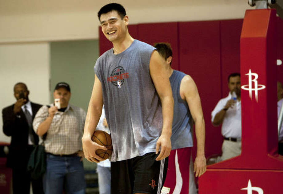 Yao Ming's case rests on his popularity in China and basketball's growth in popularity there. Photo: Johnny Hanson, Chronicle