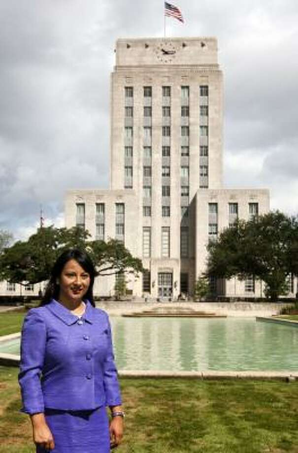 Criselda Romero Photo: Patrick T Fallon, Houston Chronicle