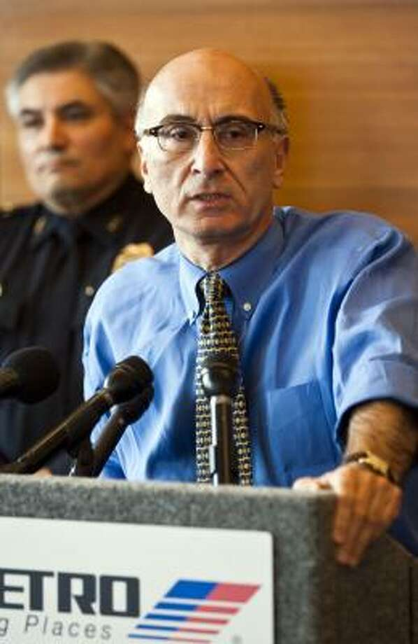 Metro CEO George Greanias speaks to the media in June about an unrelated issue. Photo: Patrick T. Fallon, Houston Chronicle File