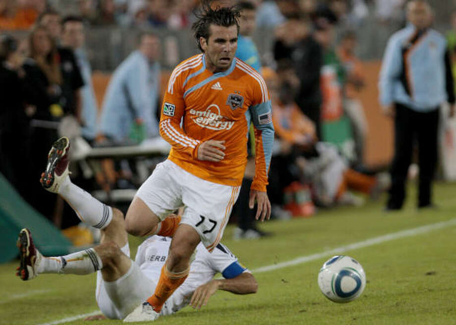 Defender Mike Chabala was one of only four players from the inaugural 2006 Dynamo team that won the MLS Cup. Photo: Thomas B. Shea, For The Chronicle