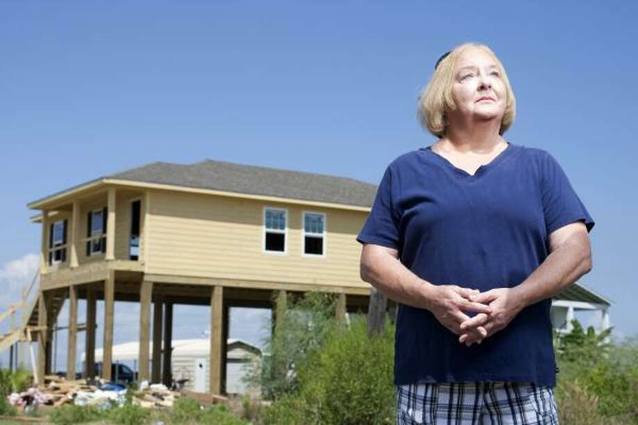 Port Bolivar resident Peggy LeRoy and her husband, Reagan, are among the fortunate ones who hope to have a rebuilt house and the furniture and appliances to go in it soon. Photo: Nick De La Torre, Chronicle