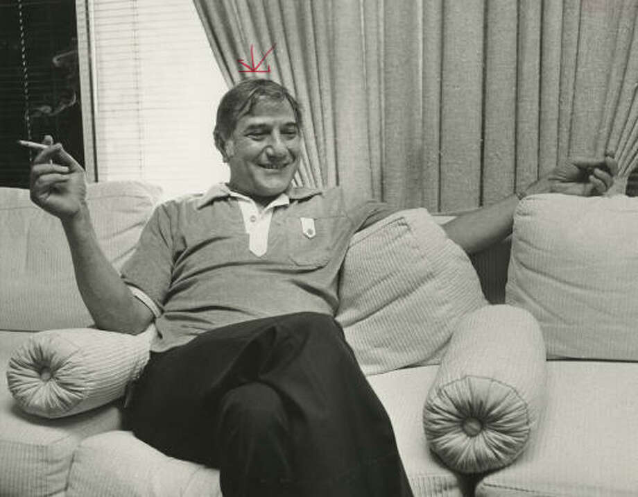 George Ballas Sr. got the idea for the Weed Eater while sitting in a car wash. Photo: Chronicle File