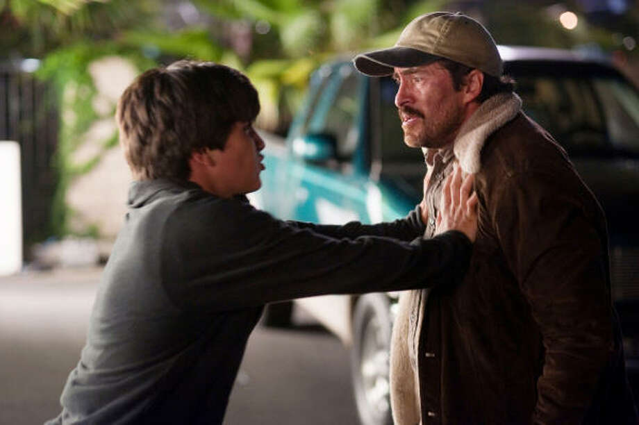 Carlos (Demián Bichir) and his son, Luis (José Julián), have a problematic relationship. Photo: Merrick Morton, Summit Entertainment