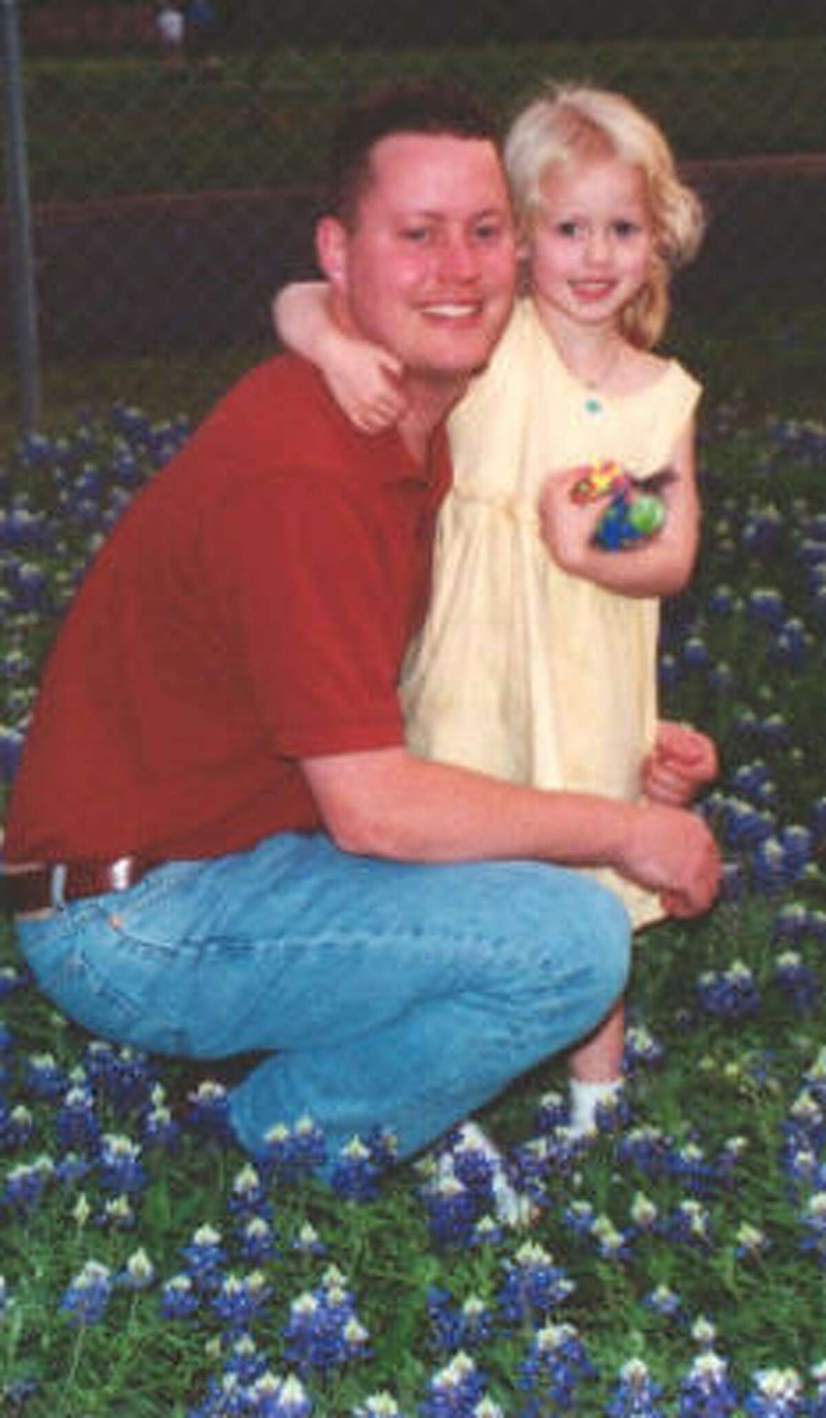 Sabrina Allen is pictured in 2002 with her father, Greg, shortly before she was abducted by her mother.