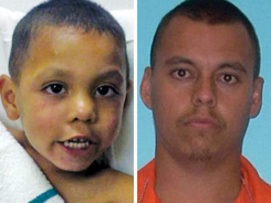 Authorities say Angel Flores, 4, was choked by his father, Carlos Rico, and left along Interstate 20 near Sweetwater for three hours. Photo: Sweetwater Police, Saginaw Police