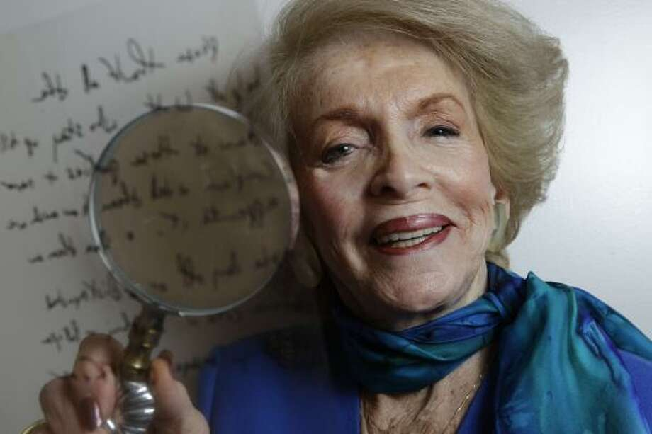Alice Weiser is a pro in the field of handwriting, doodle analysis and the reading of body language. Photo: Melissa Phillip, Houston Chronicle