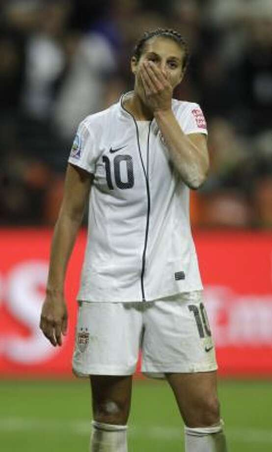 Carli Lloyd was one of three Americans who missed a penalty kick in the final. Photo: Frank Augstein, Associated Press