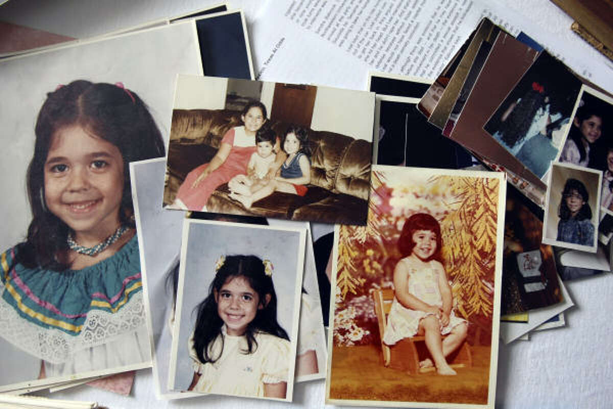 Adria Sauceda, shown in childhood pictures, was raped and bludgeoned to death.