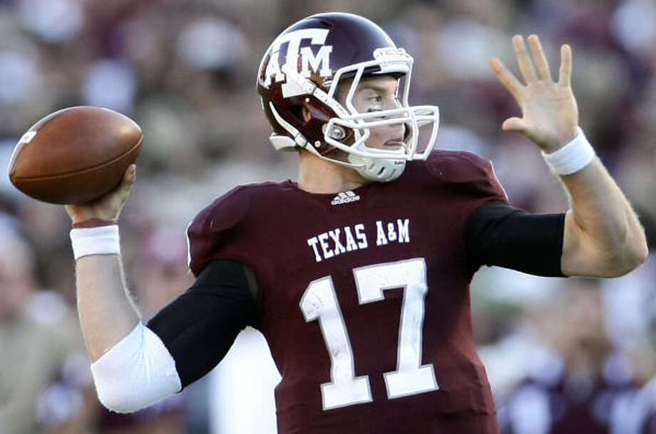 According to A&M quarterback Ryan Tannehill, sophomore receiver Nate Askew is a player to watch as the Aggies begin practice today. Photo: Nick De La Torre, Chronicle