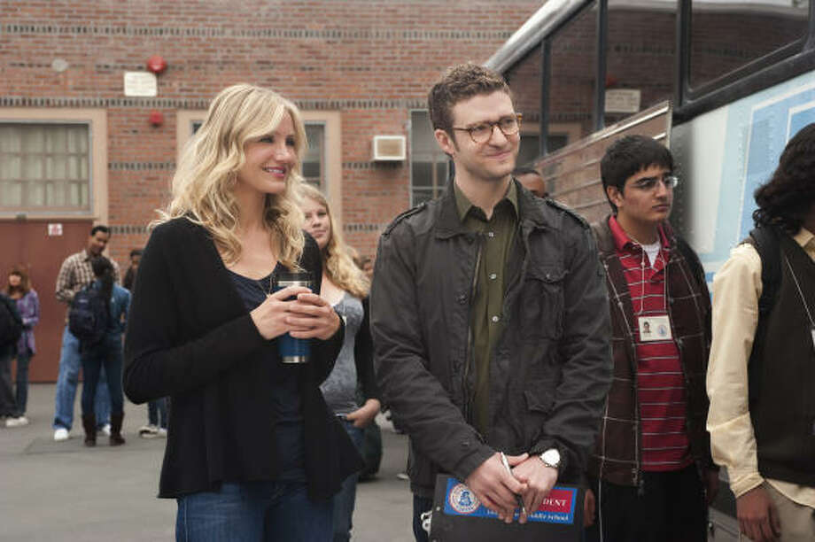 Cameron Diaz and Justin Timberlake star in Bad Teacher. Photo: Columbia Pictures