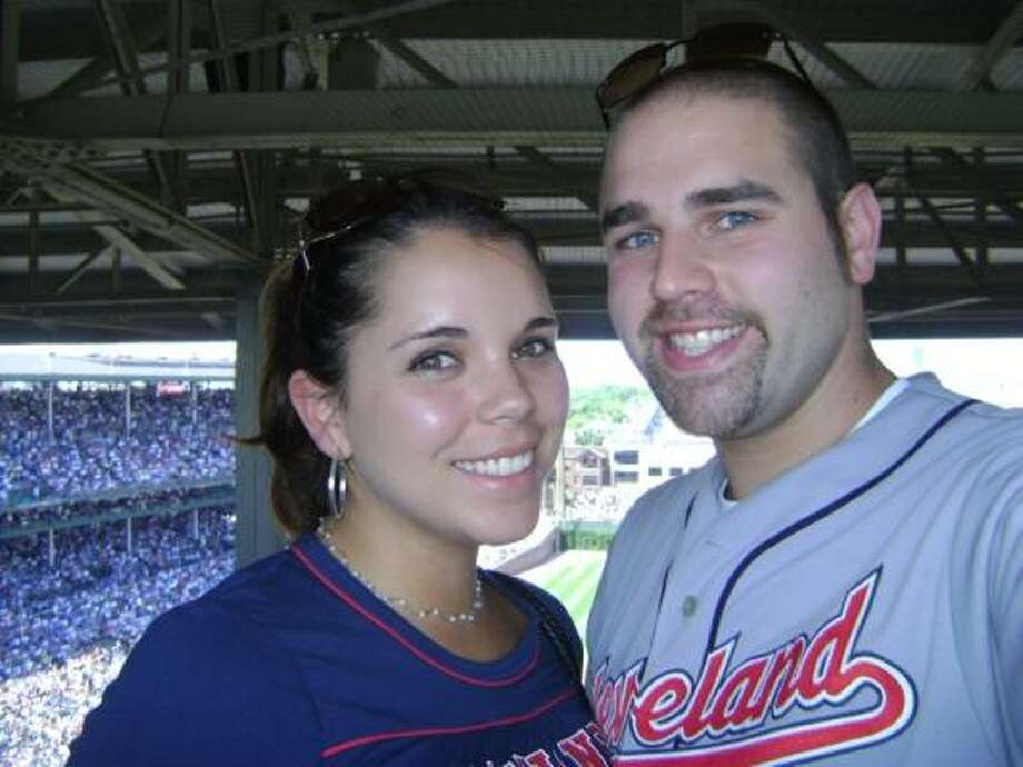 Dolly West and Joe Curiale have visited more than 20 Major League Baseball parks. The couple will be married Tuesday on the diamond at the Phoenix Convention Center. Photo: COURTESY JOE CURIALE