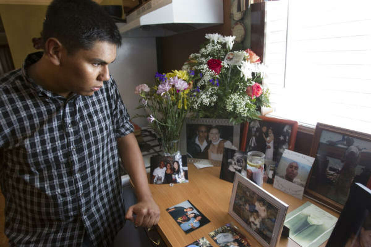 """Javier Ramirez, 18, is more determined than ever to follow in his brother's footsteps and join the Army, saying, """"He was everything I wanted to be."""""""
