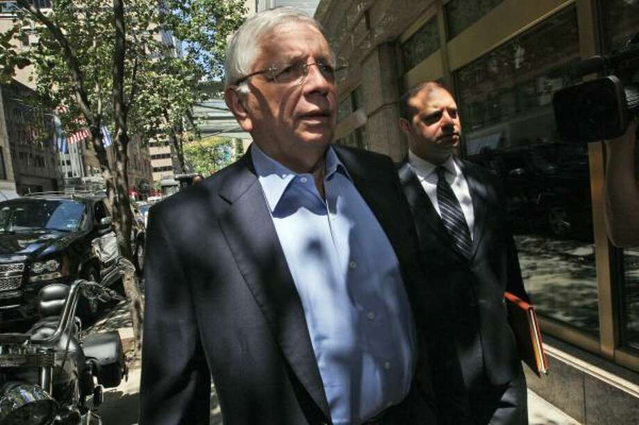 NBA commissioner David Stern arrives at a New York hotel for a meeting with the players' union. Photo: Mary Altaffer, Associated Press