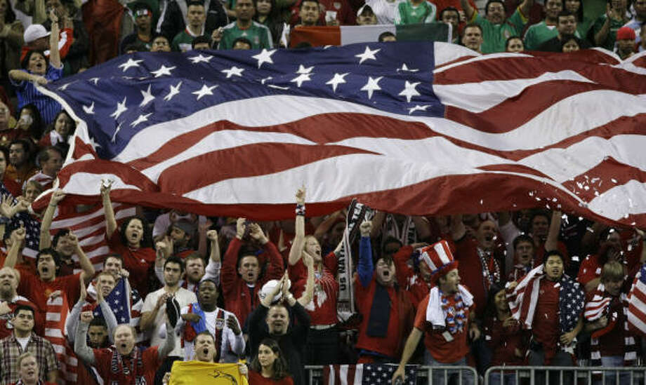 More than 70,000 fans packed Reliant Stadium for a match between the U.S. and Mexico in 2008. Photo: Brett Coomer, Houston Chronicle