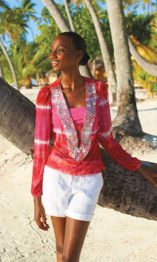 This Sunny Leigh blouse, $64 at Macy's, can work with jeans or skirts. Photo: Macy's