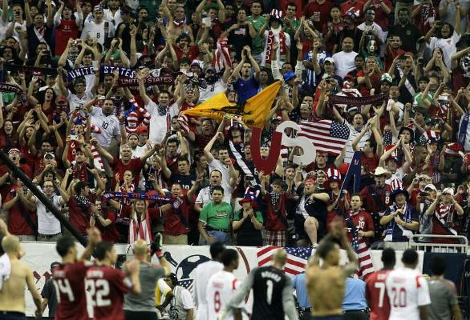 A packed house greeted the U.S. and Mexico squads in the Gold Cup semifinals at Reliant Stadium. Photo: Cody Duty, Chronicle
