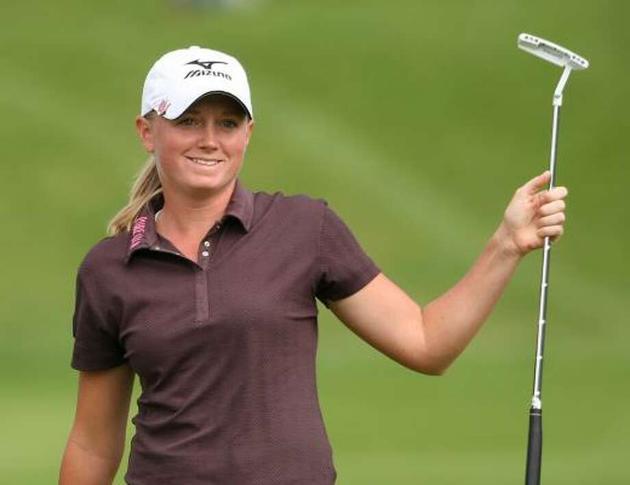 Stacy Lewis finished second at the Evian Masters in France on Sunday. Photo: Claude Paris, Associated Press