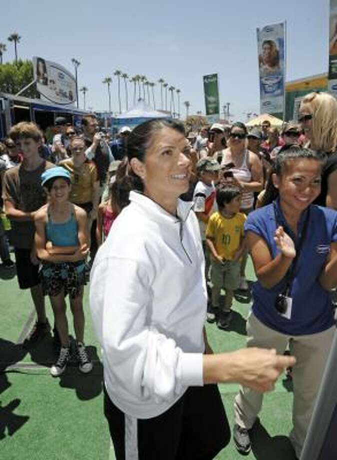 Former player Mia Hamm played an integral role in helping generate and maintain interest in women's soccer in the United States. Photo: Denis Poroy, Associated Press