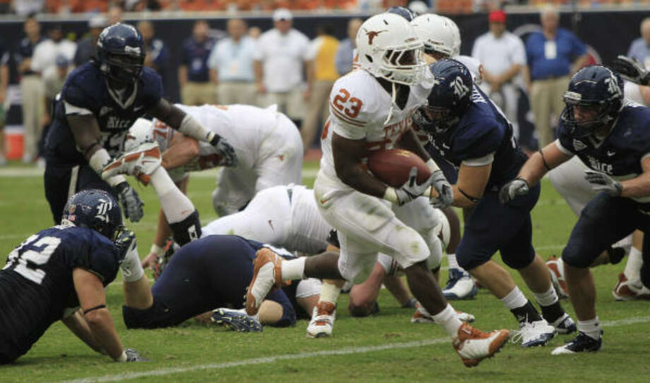 Texas' season opener against Rice will be the first live Longhorns football game aired by the Longhorn Network. Photo: Brett Coomer, Chronicle