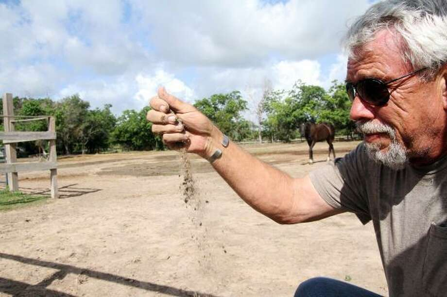 DROUGHT CONDITIONS: Habitat for Horses founder Jerry Finch said the nonprofit rescue group has taken a one-two punch, thanks to the drought and the recession — both land and funding have dried up. Photo: Pin Lim, For The Chronicle