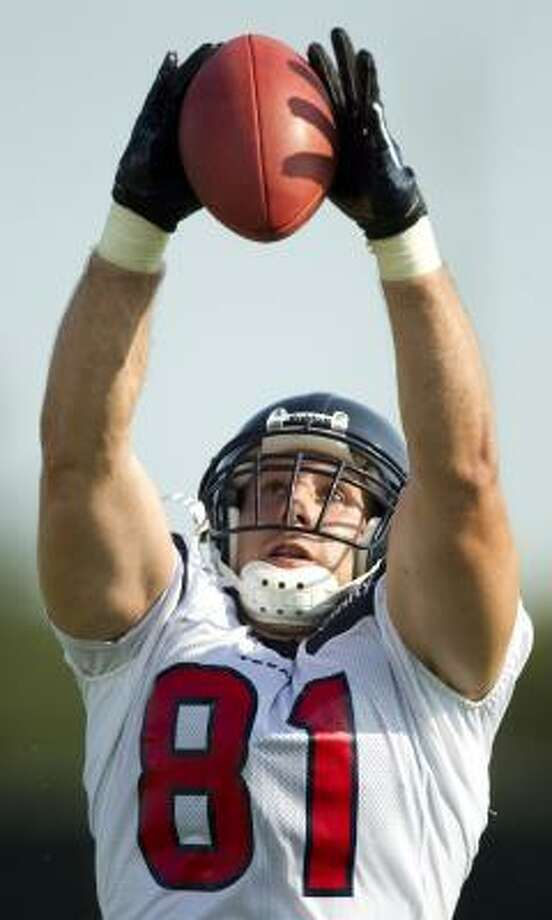It's not a stretch to mention notable NFL tight ends when discussing Owen Daniels' potential at the position as he enters his sixth season with the Texans. Photo: Brett Coomer, Chronicle