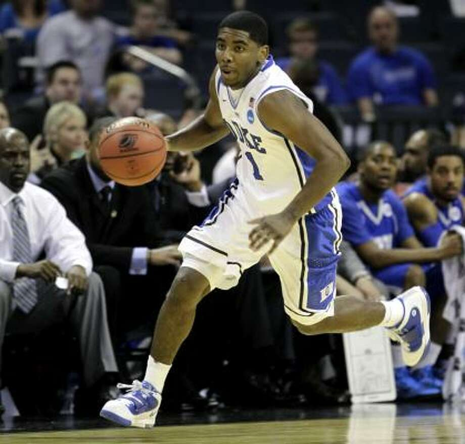 Point guard Kyrie Irving played just 11 games in his only season at Duke. Photo: Associated Press