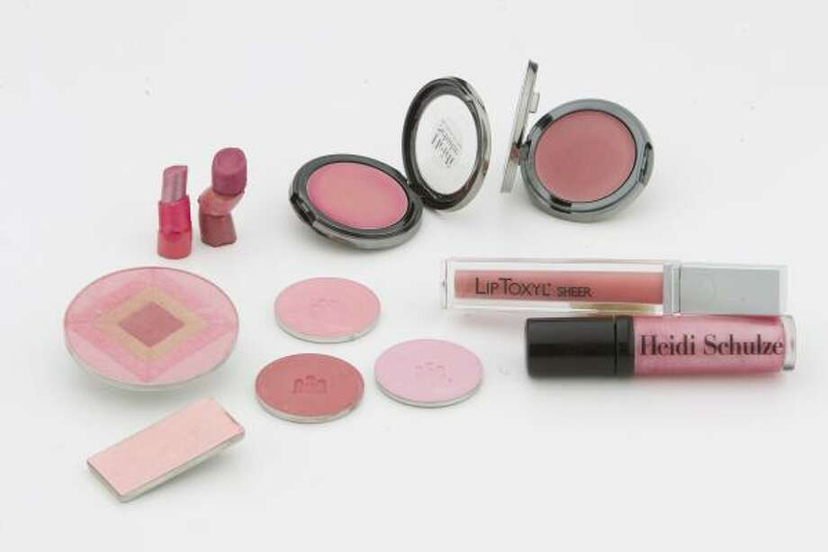 These products by Heidi  Schulze will help make pink lips pop. Photo: Nick De La Torre, Houston Chronicle
