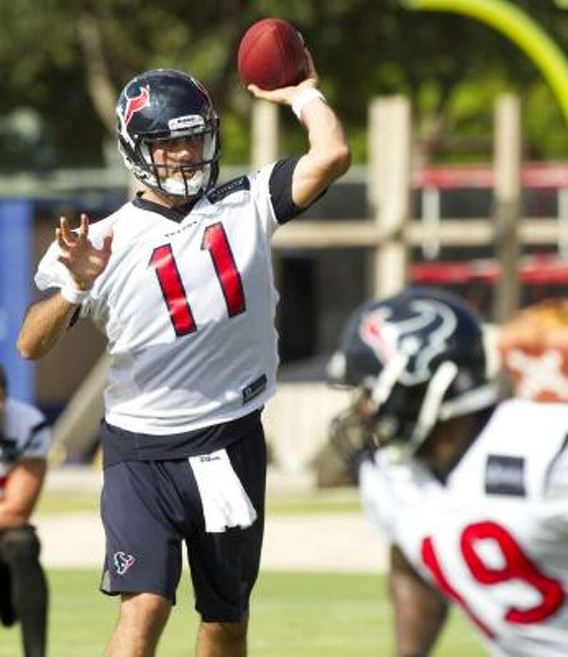 Matt Leinart thinks staying with the Texans for two more seasons will help his development and give him a better shot at earning a starting job down the road. Photo: Brett Coomer, Chronicle