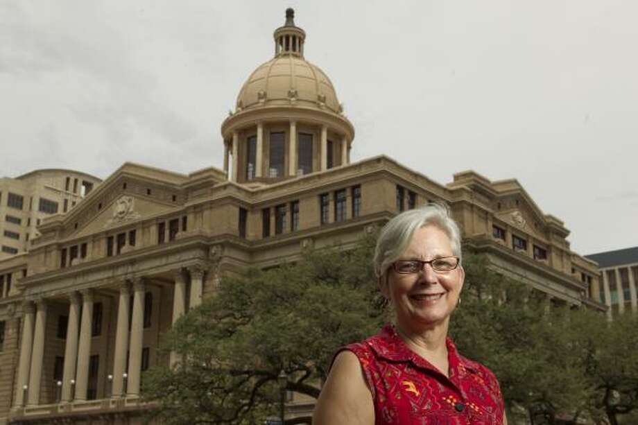 Archivist Sarah Jackson and her colleagues conducted a seven-year series of interviews to capture the essence of the newly renovated 1910 Harris County Civil Courthouse. Photo: Melissa Phillip, Chronicle