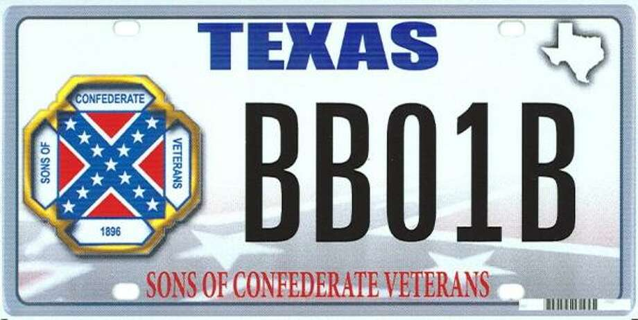 Sons of Confederate Veterans license plate Photo: Handout Photo