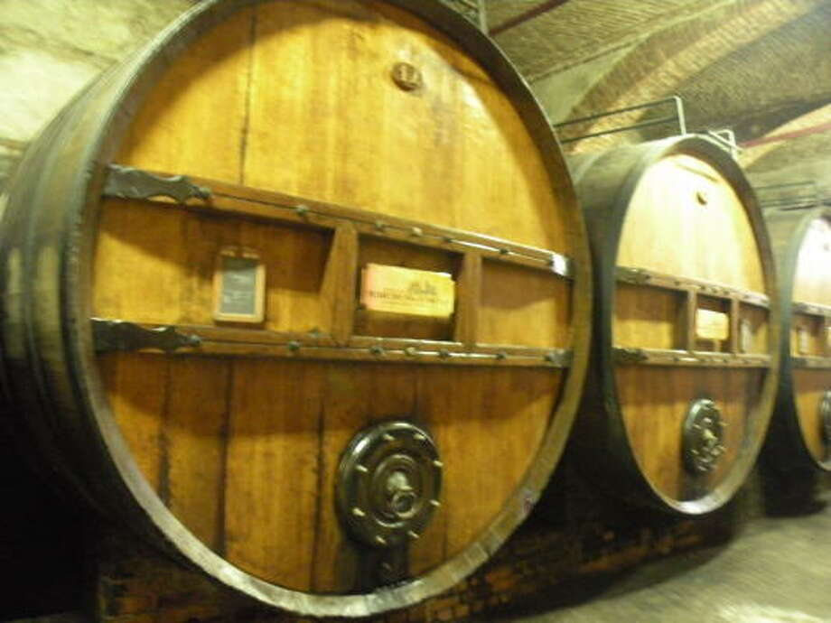 150-year-old Slavonian oak cask in the Marchesi di Barolo cellar. Photo: Courtesy Photo