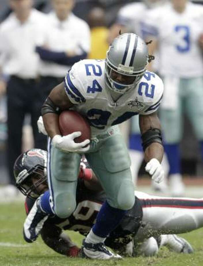 Marion Barber had career lows last season in several statistical categories and became expendable with the drafting of Oklahoma's DeMarco Murray. Photo: Karen Warren, Chronicle