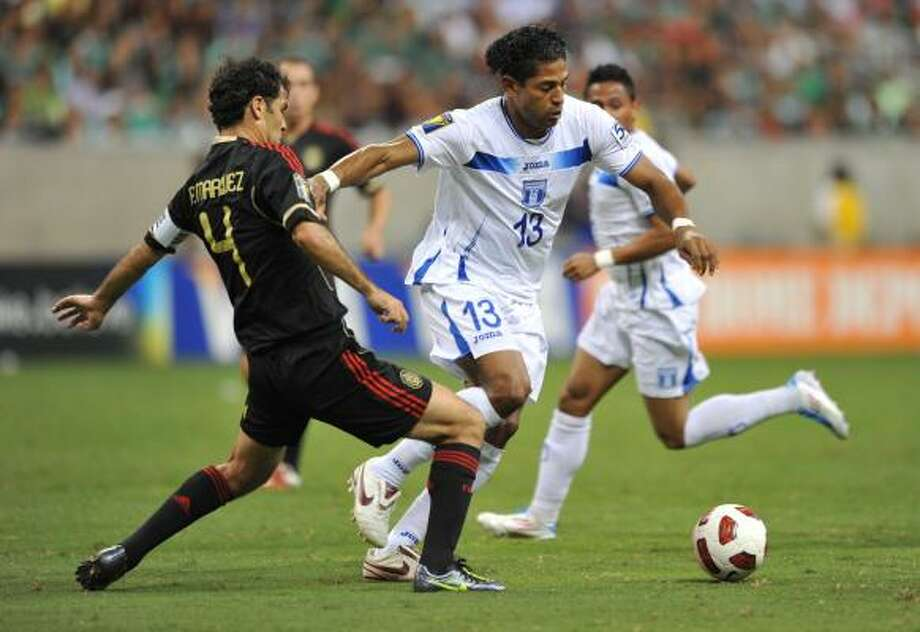 Honduras forward Carlo Costly showed off his scoring ability in the Gold Cup at Reliant Stadium. Photo: STAN HONDA, Getty