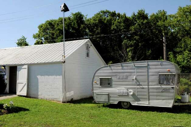 "The trailer where Ryan Gosling's character will live as part of the movie ""Place Beyond the Pines"" on Wednesday, Aug. 17, 2011, at the Altamont Fair Grounds in Altamont, N.Y. (Cindy Schultz / Times Union) Photo: Cindy Schultz"