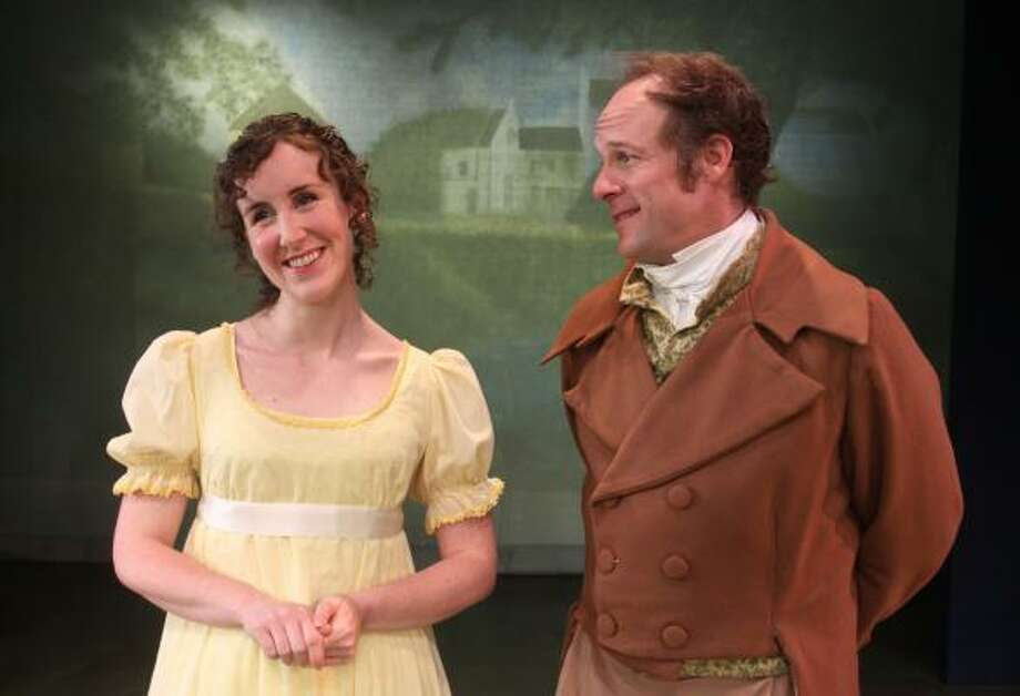 Sarah Cooksey stars as Emma Woodhouse and Craig Griffin plays Mr. Knightly in the A.D. Players' production of Emma, Jon Jory's new adaptation of the Jane Austen novel. Photo: Gary Fountain :, For The Chronicle