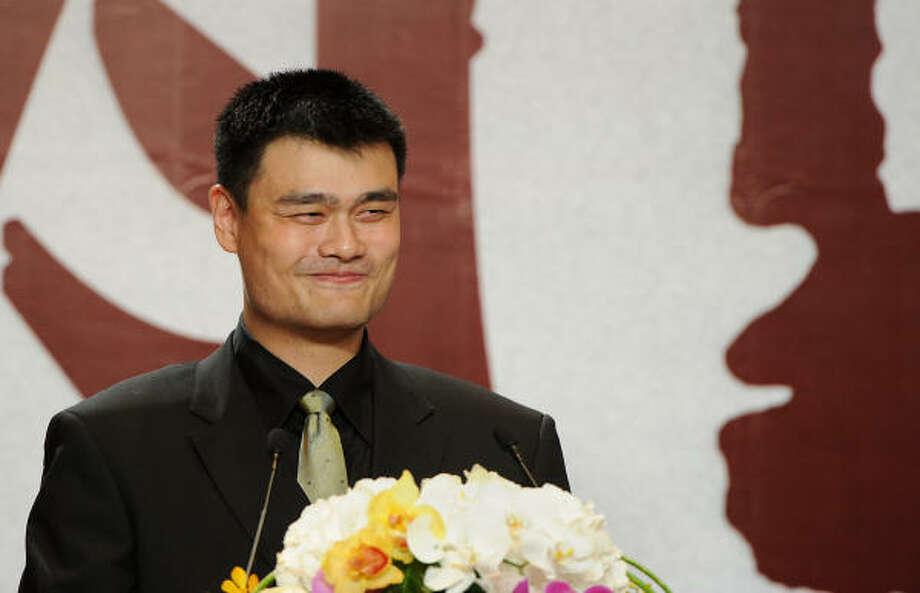 Yao Ming announced his retirement on Wednesday in a ceremony and news conference in Shanghai. Photo: PHILIPPE LOPEZ, Getty Images
