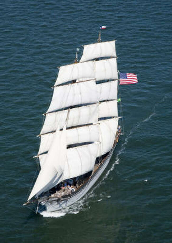 Now plagued with corrosion, the Elissa sailed smartly out of Galveston in October 2007 during the Harvest Moon Regatta. Photo: Smiley N. Pool, Houston Chronicle