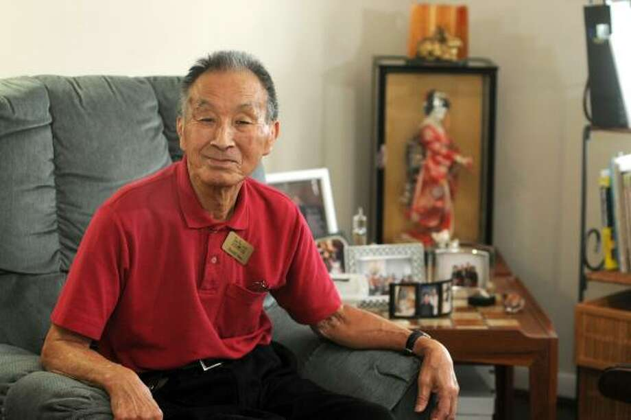 Harold Tono, 84, a resident of the Village at Gleannloch Farms in Spring, was one of thousands of Japanese Americans who were interred in prison camps in the United States at the start of WWII. Freelance photo by Jerry Baker Photo: Jerry Baker, For The Chronicle