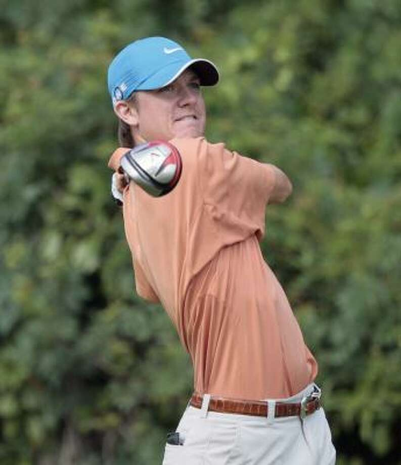Michael Whitehead made four consecutive bogeys early in the round on his way to shooting 6-over 77. Photo: Chronicle File Photo