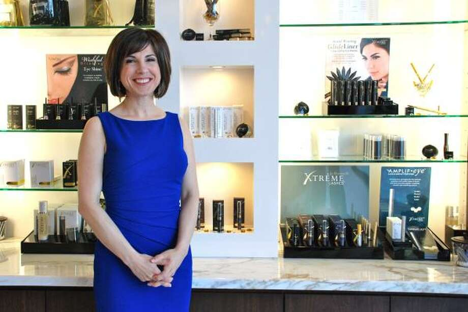 LINDSAY PEYTON: FOR THE CHRONICLE PRODUCT LINE: Jo Mousselli, owner and president of Xtreme Lashes, was inspired to create a product to simplify beauty routines for busy women while working as a registered nurse. Photo: Lindsay Peyton