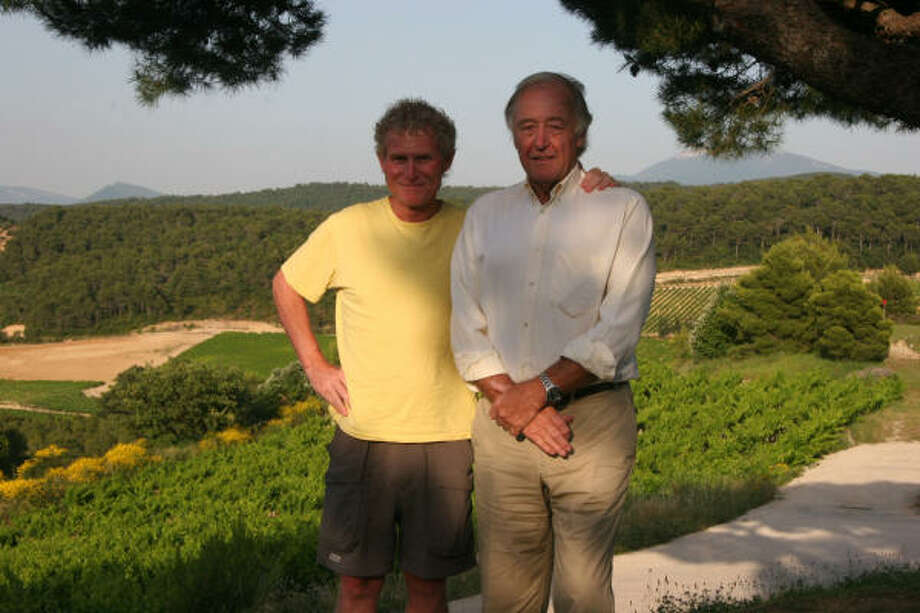 Dale Robertson, left, with Walter McKinlay of Domaine Mourchon winery in Séguret, France. Photo: HUGO LEVINGSTON