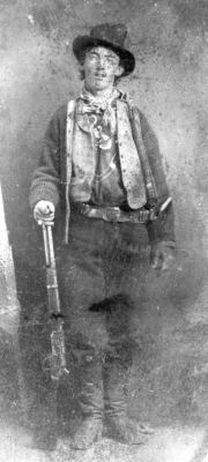 This picture is believed to depict William Bonney, aka Billy the Kid, circa 1880. Photo: AP
