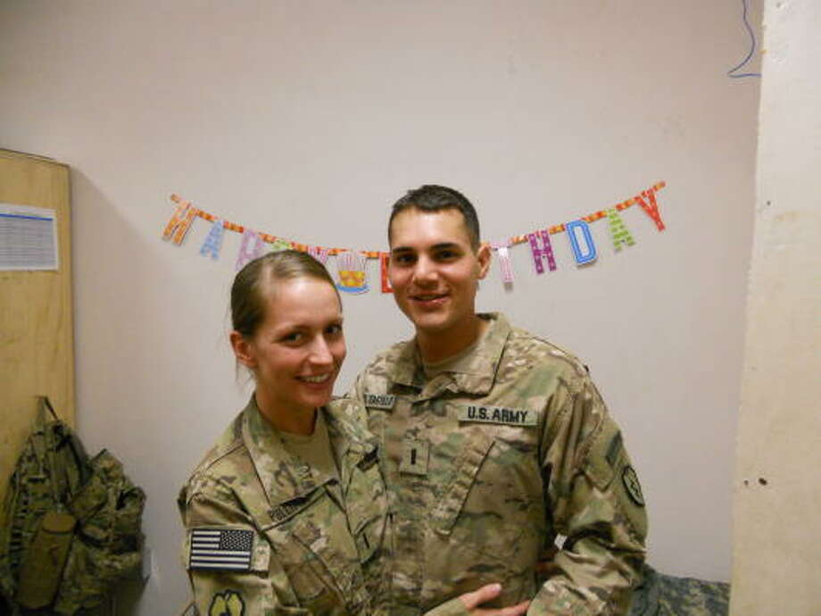 First Lt. Dimitri del Castillo was awarded a Purple Heart and a Bronze Star. Photo: Courtesy Photo
